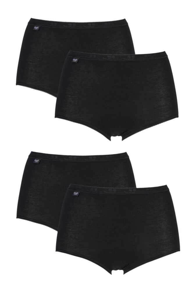 Ladies 4 Pair Sloggi Basic Maxi Briefs