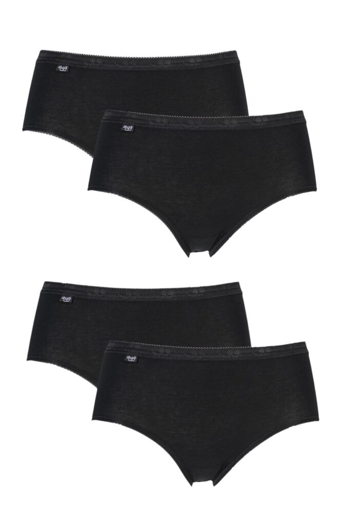 Ladies 4 Pack Sloggi Basic Midi Briefs