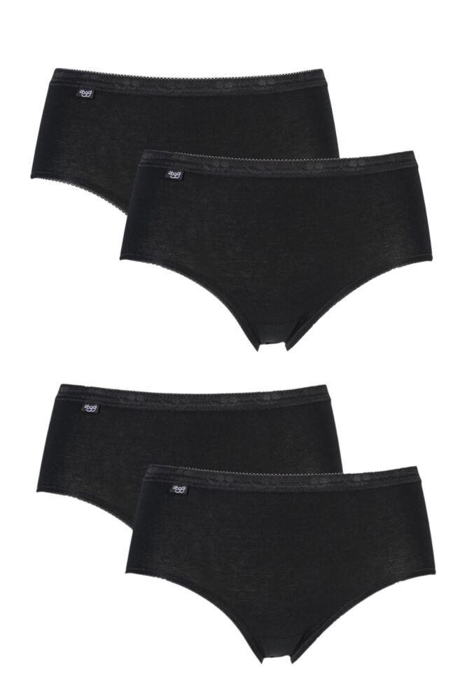 Ladies 4 Pack Sloggi Basic Midi Briefs