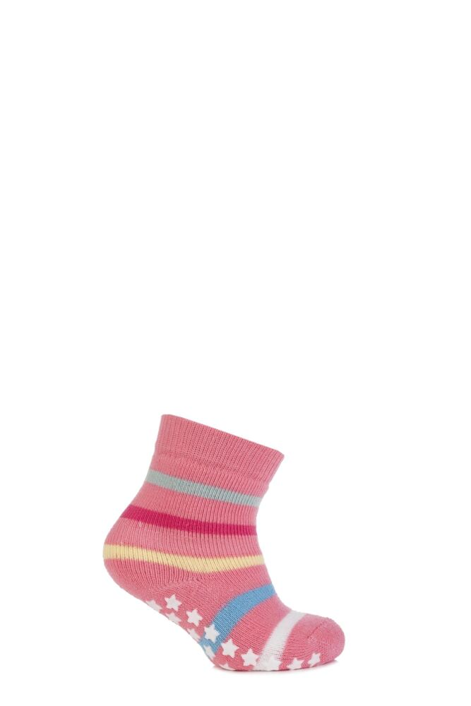 Babies 1 Pair Falke Multicoloured Stripe Catspads With Star Grip