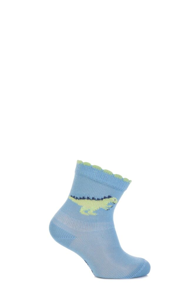 Babies 1 Pair Falke Dinosaur Cotton Socks