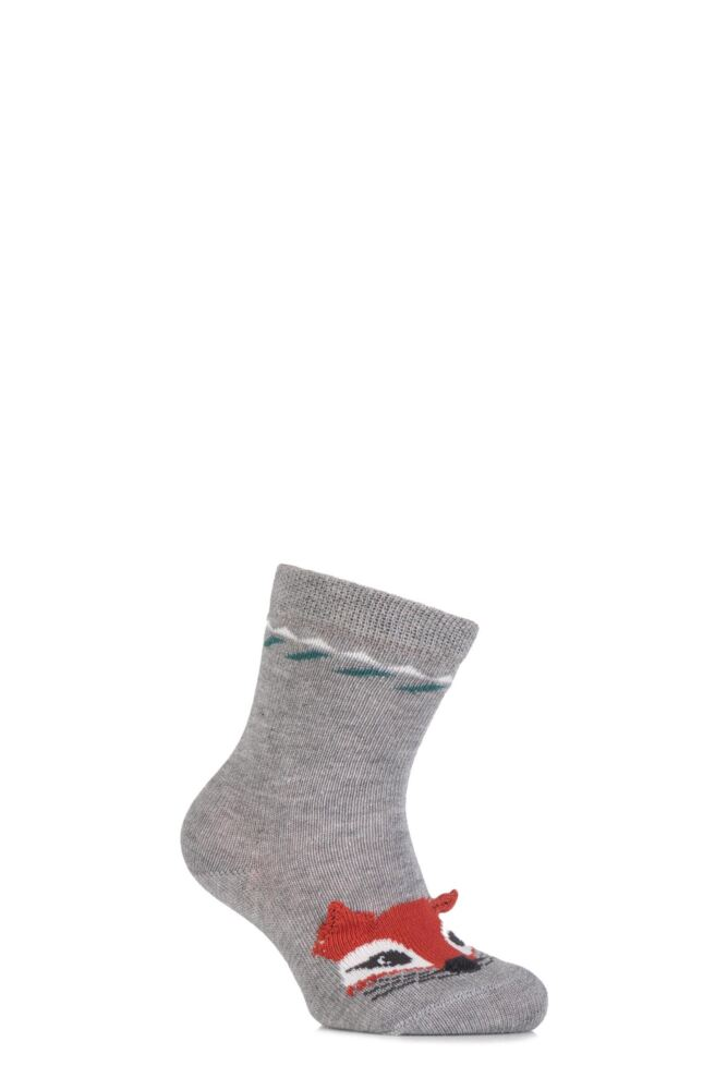 Babies 1 Pair Falke Cotton Fox Socks with 3D Ears