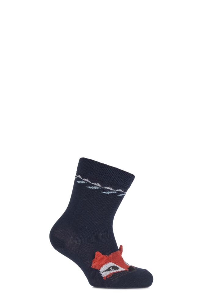 Babies 1 Pair Falke Cotton Fox Socks with 3D Ears