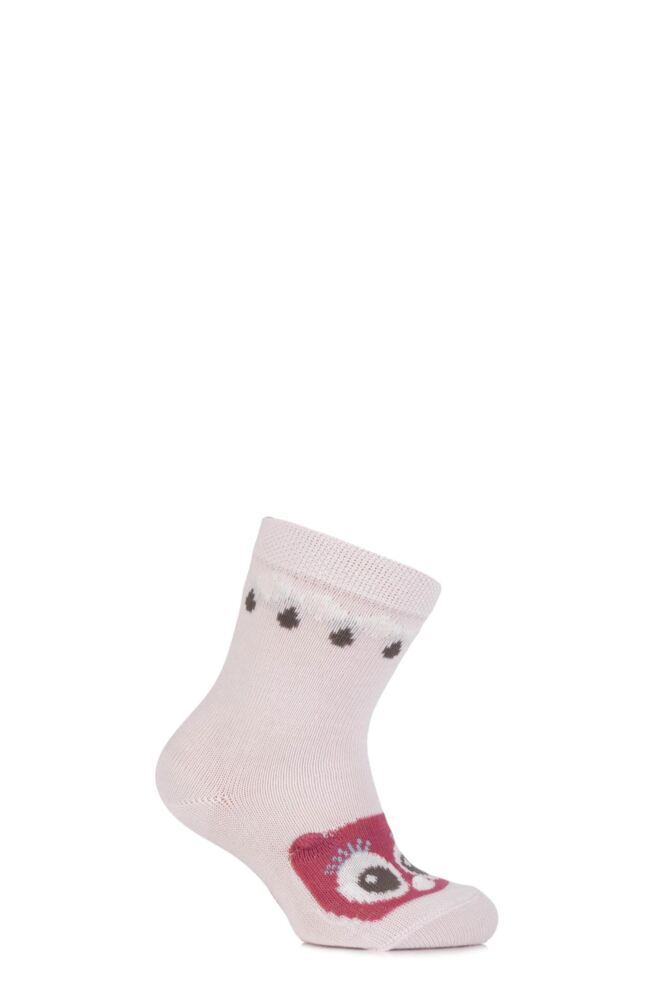Babies 1 Pair Falke Cotton Owl Socks with 3D Ears and Nose