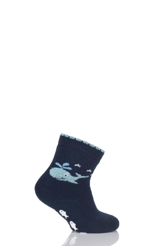 Babies 1 Pair Falke Whale Catspads with Fish Print Grip