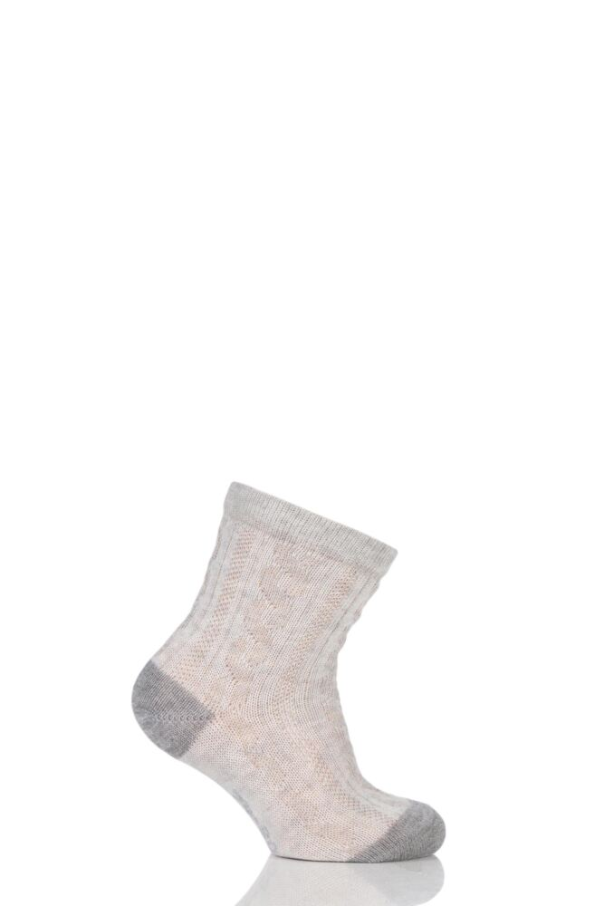 Babies 1 Pair Falke Cable Knit Cotton Ankle Socks
