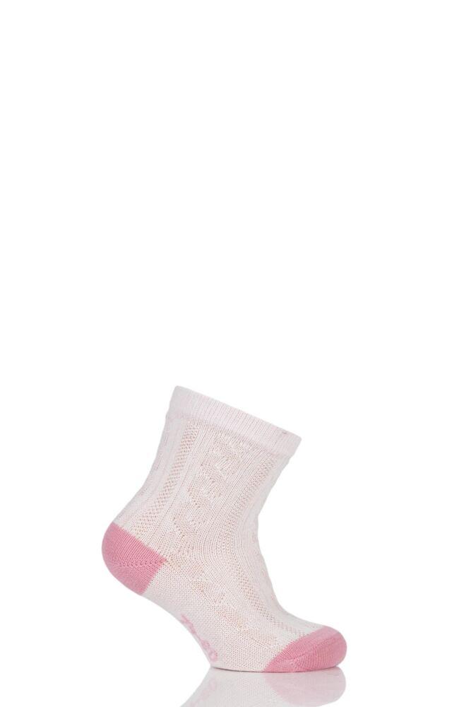 Babies 1 Pair Falke Cable Knit Cotton Ankle Socks