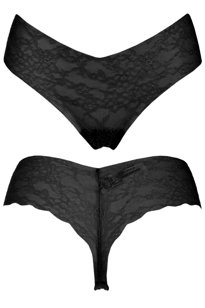 Ladies 1 Pair Sloggi Light Lace Brazil Panty 50% OFF