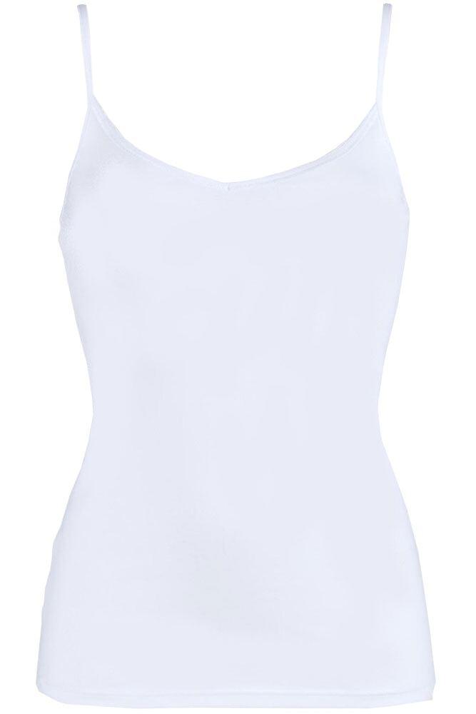 Ladies 1 Pack Sloggi EverNew Cotton Shirt Vest Top with Spaghetti Straps