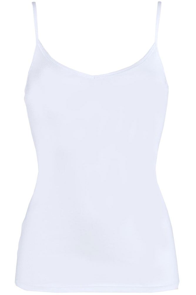 Ladies 1 Pack Sloggi EverNew Cotton Shirt Vest Top with Spaghetti Straps