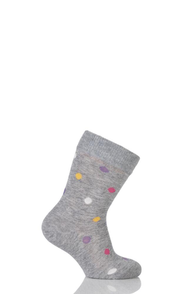 Boys And Girls 1 Pair Falke Spotty Cotton Socks 25% OFF
