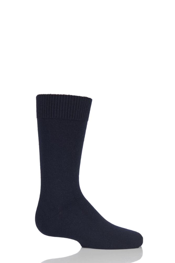 Boys and Girls 1 Pair Falke Comfort Wool Plain Socks
