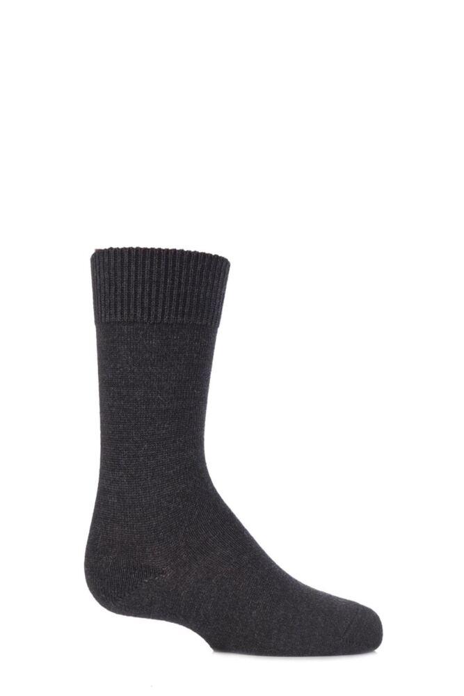 Boys and Girls 1 Pair Falke Comfort Wool Plain Socks
