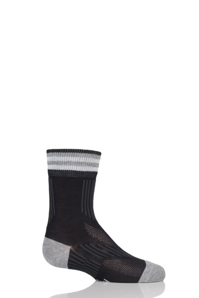Boys and Girls 1 Pair Falke Run and Win Cotton Socks