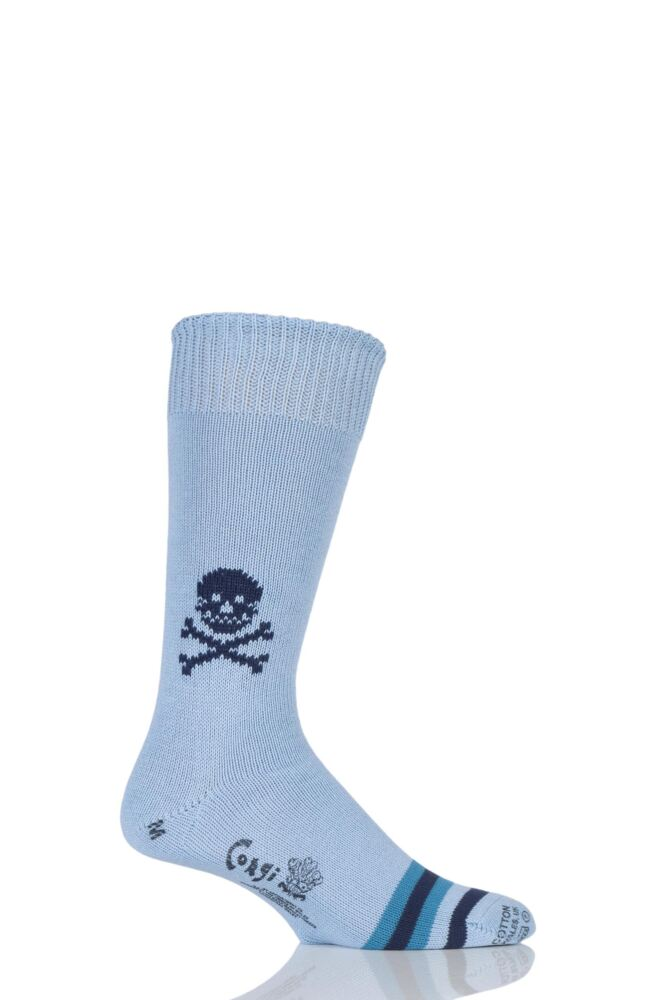 Mens 1 Pair Corgi 100% Cotton Skull Socks