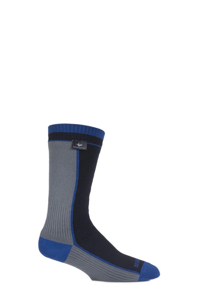 Mens and Ladies 1 Pair SealSkinz 100% Waterproof Mid Weight Mid Length Socks