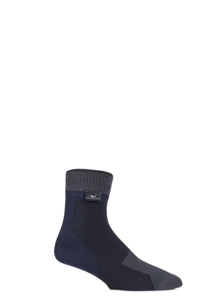 Mens and Ladies 1 Pair SealSkinz 100% Waterproof Thin Ankle Socks with Hydrostop