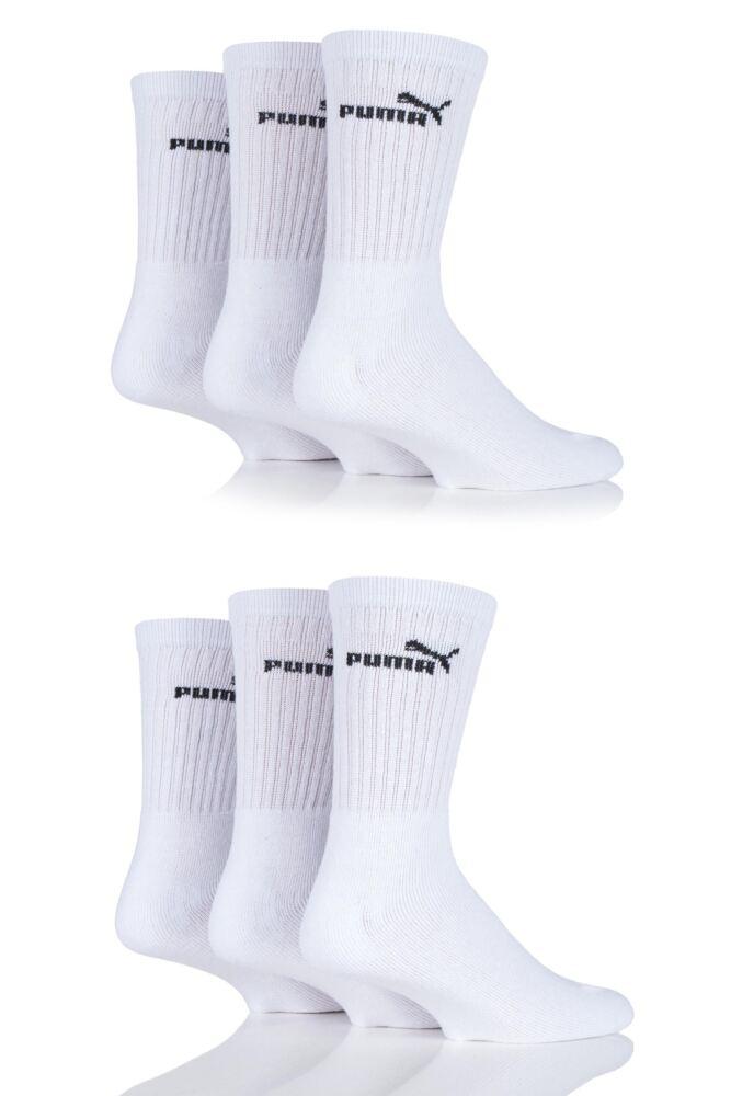 Mens 6 Pair Puma Cotton Sports Socks