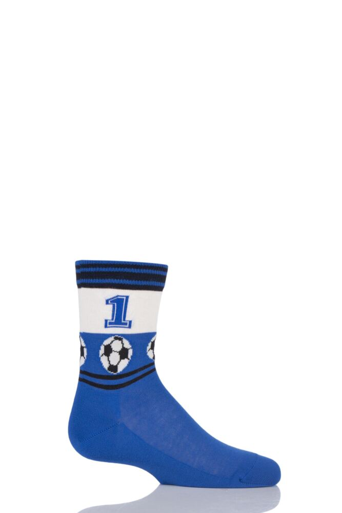 Boys 1 Pair Falke Football Stripe Cotton Socks