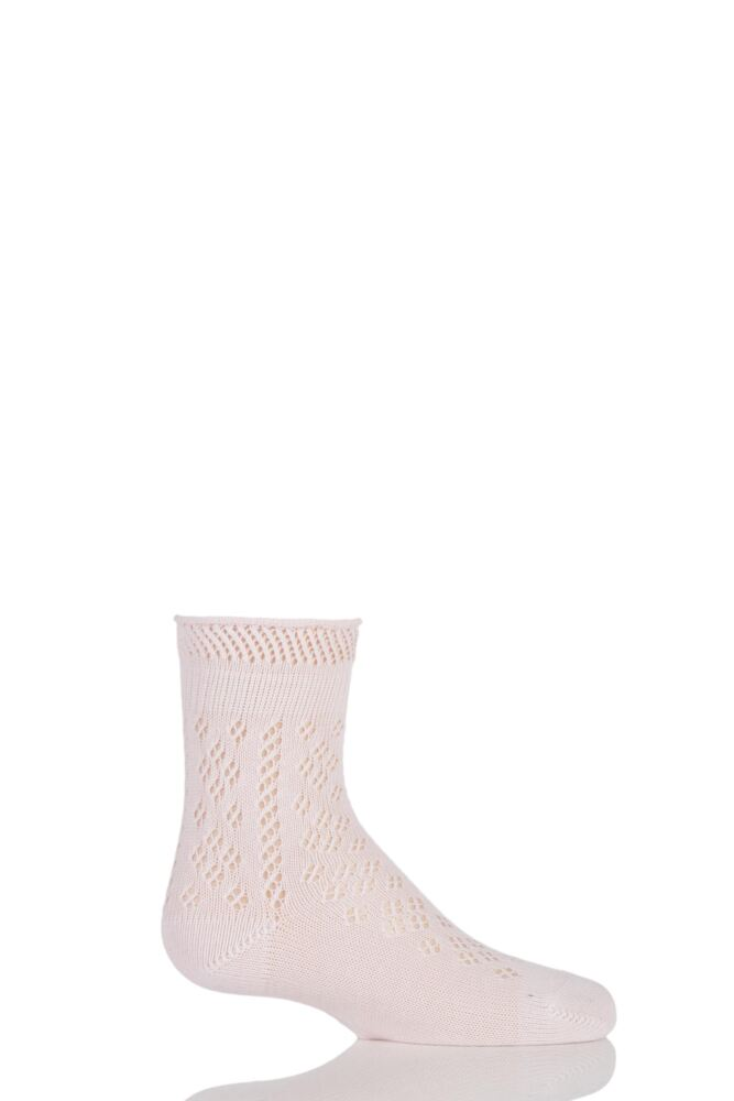 Girls 1 Pair Falke Pelerine Lace Cotton Socks