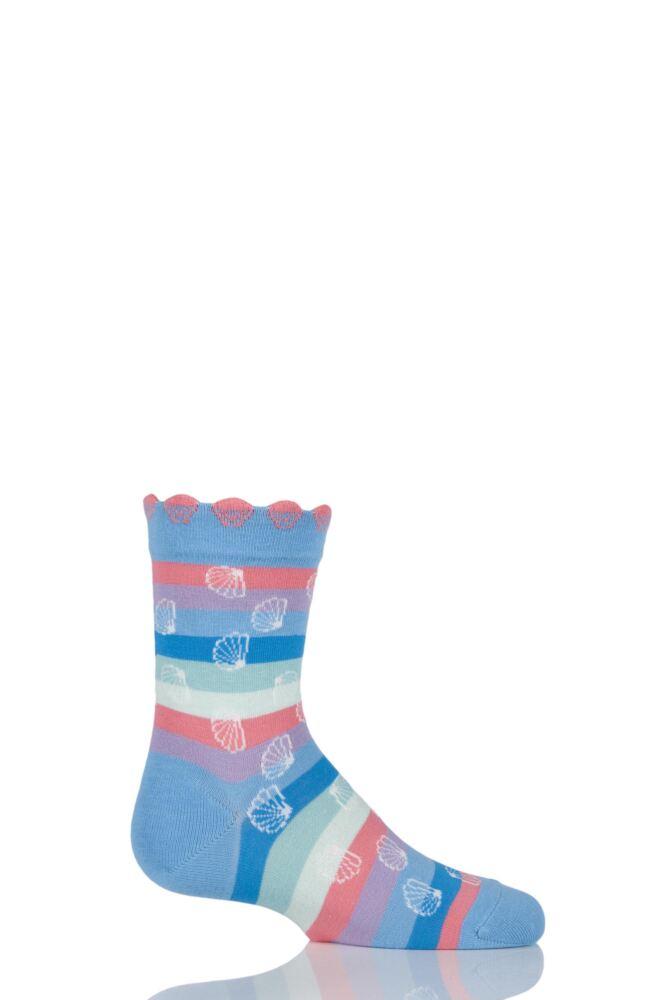 Girls 1 Pair Falke Cotton Seashell Striped Socks