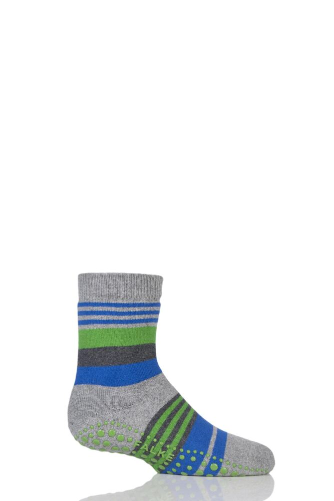 Boys 1 Pair Falke Irregular Stripe Catspads