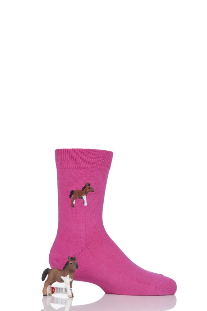 Boys and Girls 1 Pair Falke Limited Edition Schleich Toy and Socks Set