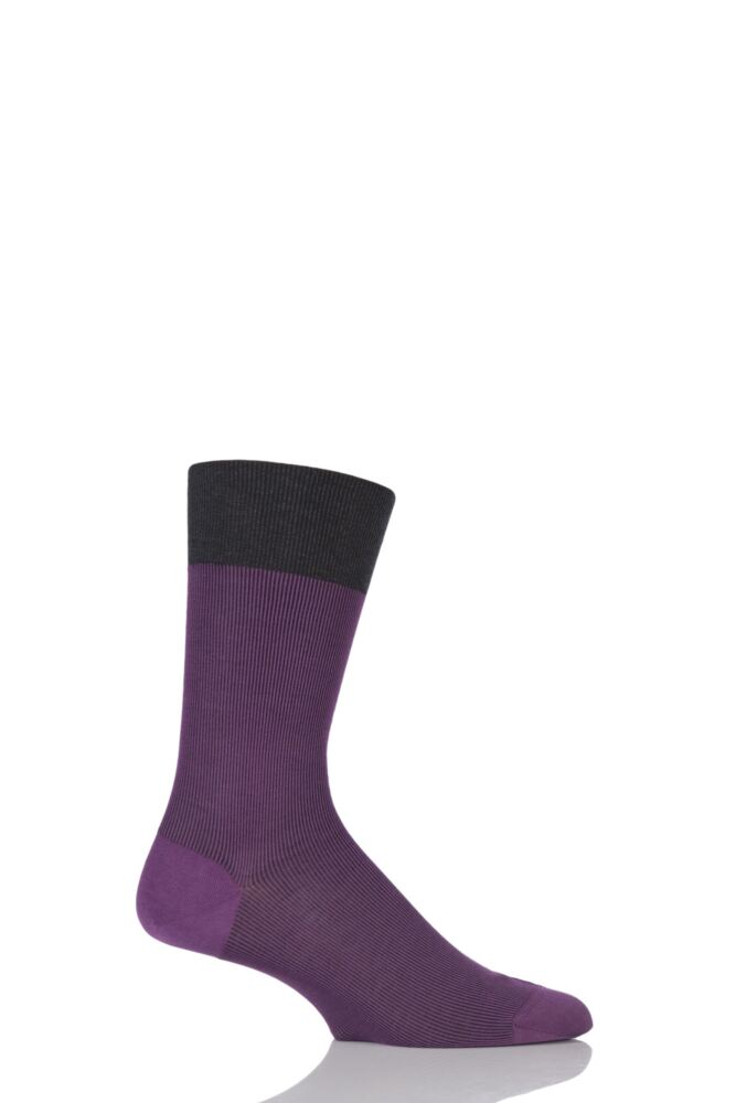 Mens 1 Pair Falke Fine Shadow Cotton Socks