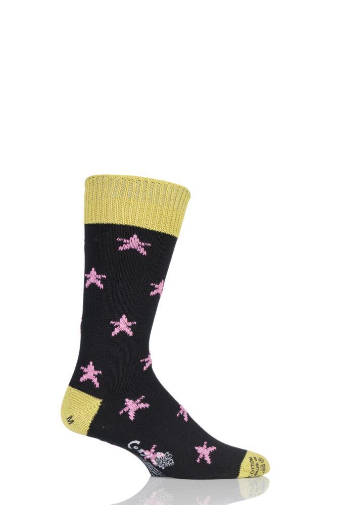 Mens 1 Pair Corgi 100% Cotton Stars Socks