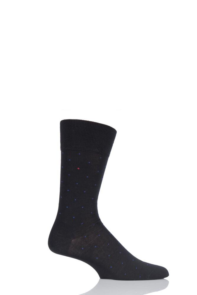 Mens 1 Pair Falke Cotton Micro Spot Socks 25% OFF