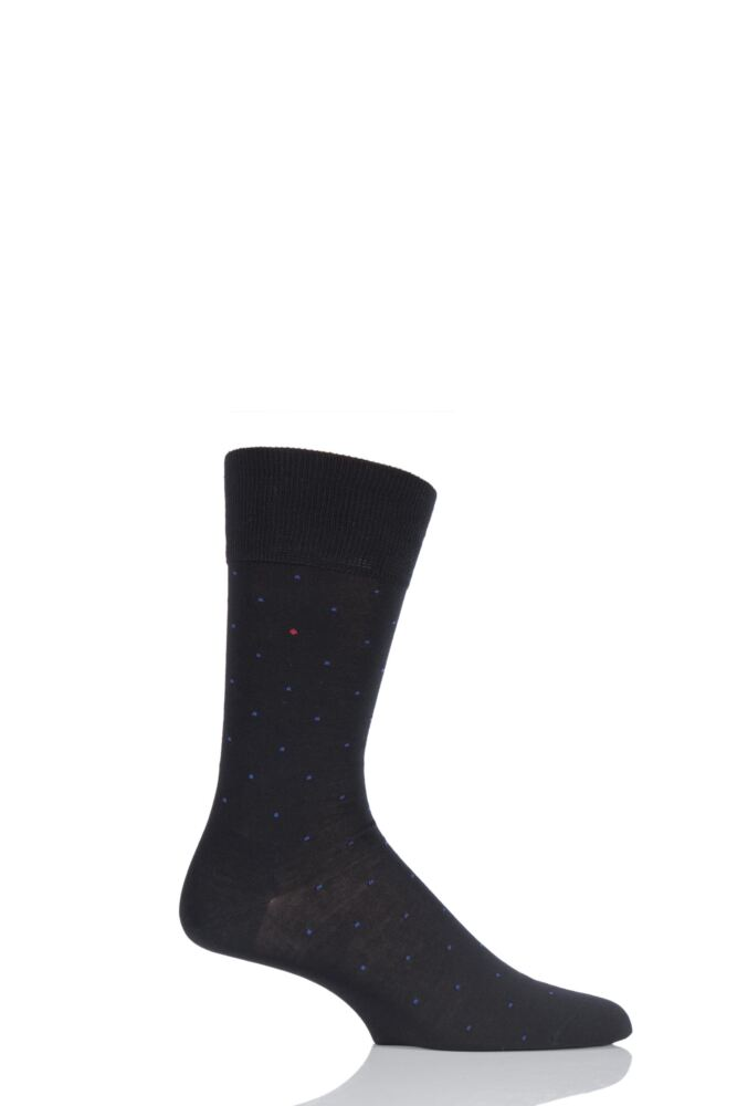 Mens 1 Pair Falke Cotton Micro Spot Socks 25% OFF