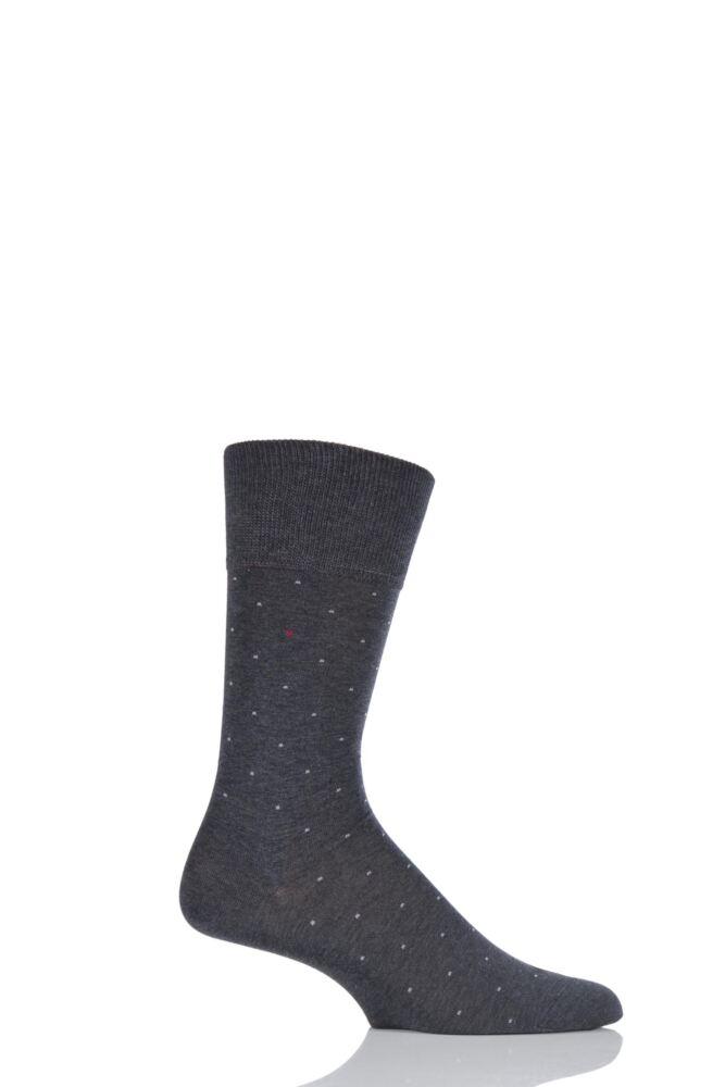 Mens 1 Pair Falke Cotton Micro Spot Socks