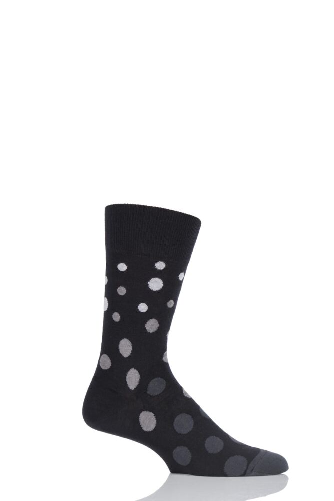 Mens 1 Pair Falke Cotton Varied Spots Socks 25% OFF