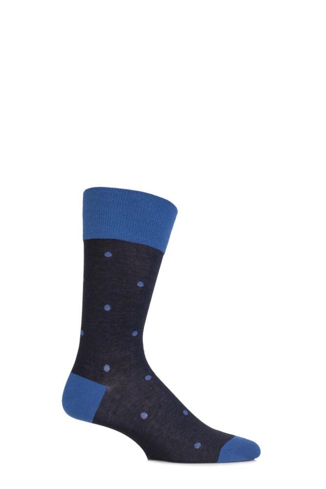 Mens 1 Pair Falke Cotton Juggle Large Dotted Socks 25% OFF