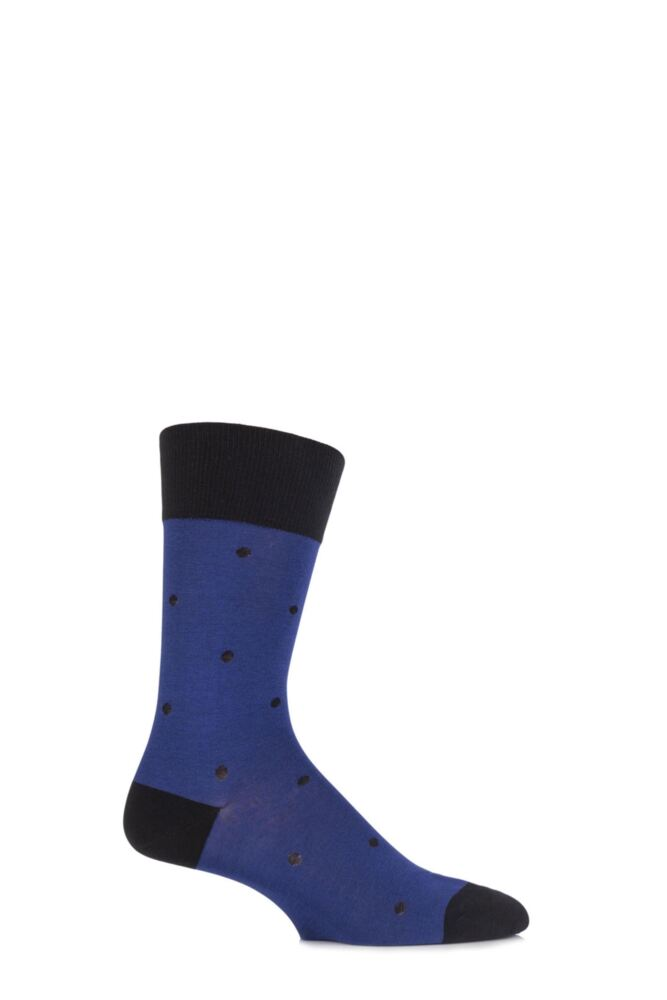 Mens 1 Pair Falke Cotton Juggle Large Dotted Socks