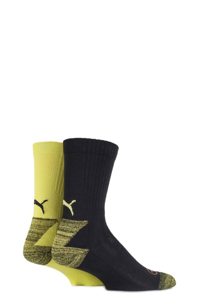 Mens and Ladies 2 Pair Puma DryCELL Multi Sports Mid-Weight Crew Socks