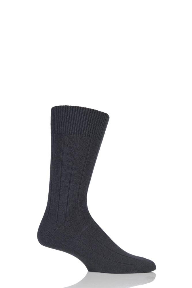 Mens 1 Pair Falke Lhasa Rib Cashmere Blend Casual Socks