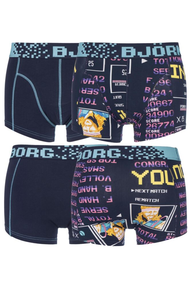 Mens 2 Pack Bjorn Borg High Score Computer Game Boxer Shorts