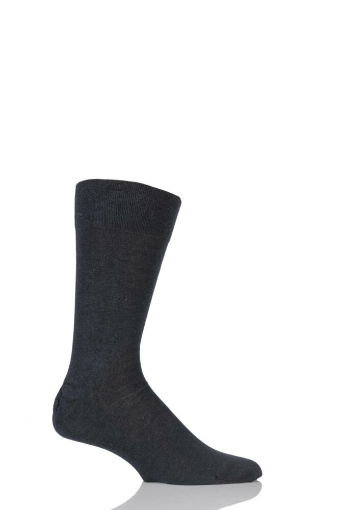 Mens 1 Pair Falke Sensitive London Cotton Left and Right Socks With Comfort Cuff