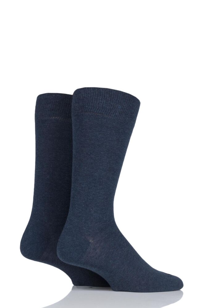 Mens 2 Pair Falke Swing Plain Cotton Socks