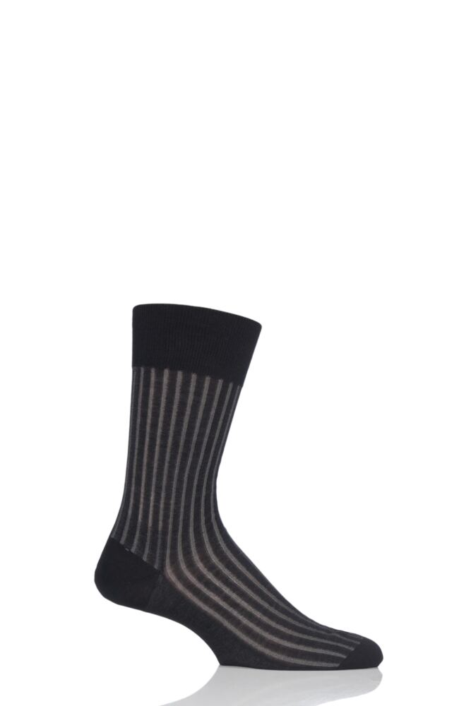 Mens 1 Pair Falke Shadow Fil d'Ecosse Cotton Ribbed Socks