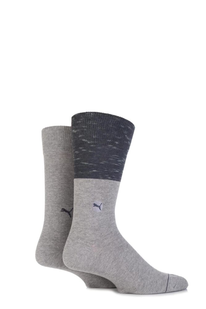 Mens 2 Pair Puma Colour Block Cotton Socks 33% OFF