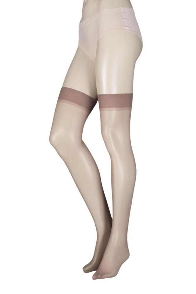 Ladies 1 Pair Elle Stockings 15 Denier 100% Nylon