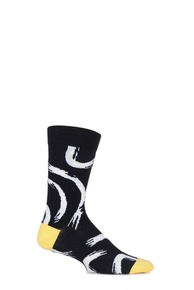 Mens 1 Pair Bjorn Borg Cotton Body Paint Swirl Socks 25% OFF