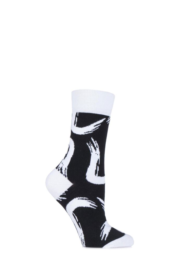 Ladies 1 Pair Bjorn Borg Cotton Body Paint Swirl Socks