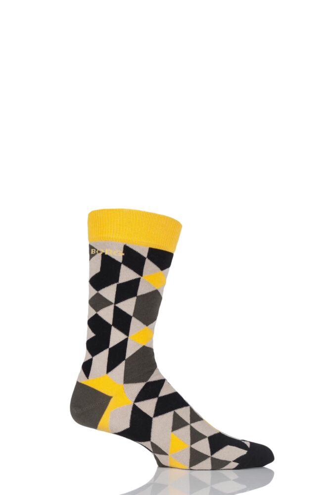 Mens 1 Pair Bjorn Borg Diamond Tiles Cotton Socks