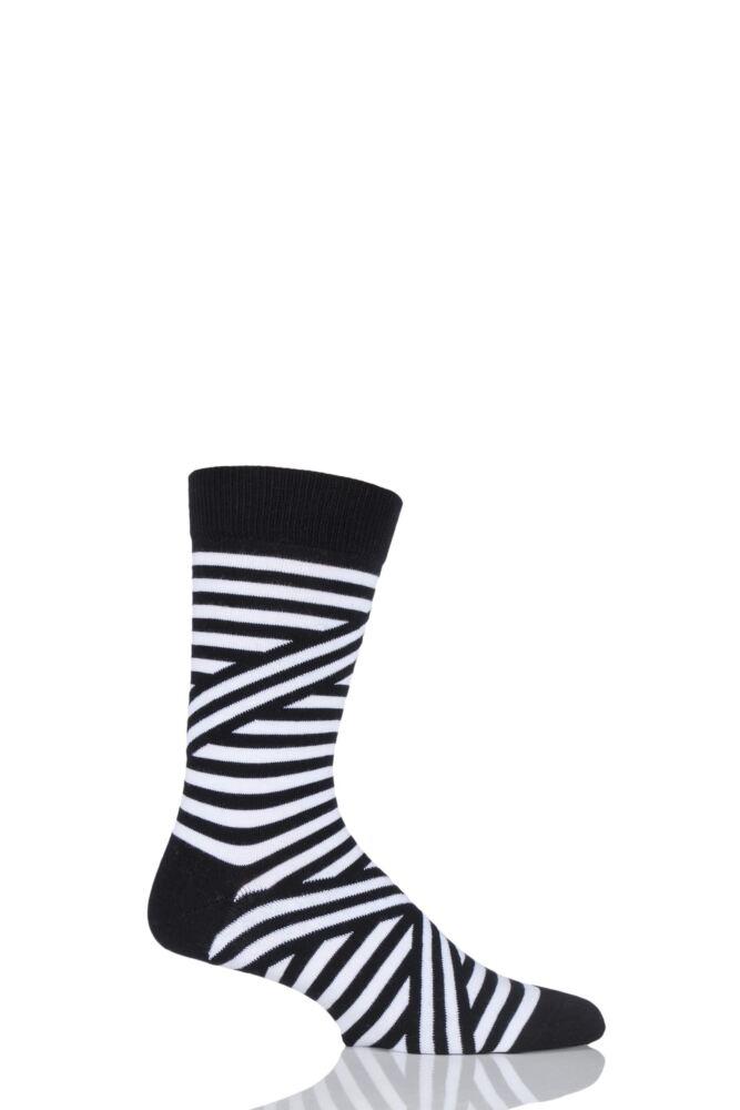 Mens 1 Pair Bjorn Borg Criss Cross Striped Cotton Socks