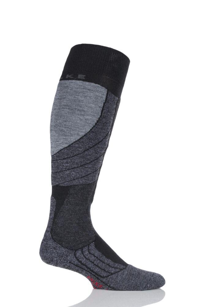 Mens 1 Pair Falke Medium Volume Wool Ski Socks
