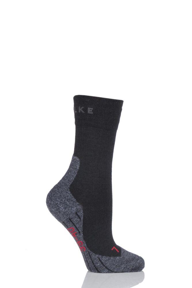 Ladies 1 Pair Falke Medium Volume Ergonomic Cushioned Trekking Socks