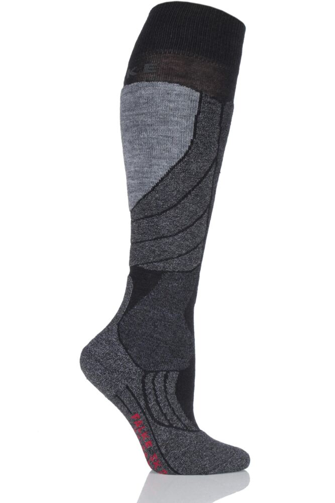 Ladies 1 Pair Falke Medium Volume Wool Ski Socks